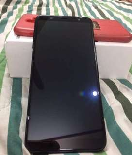 Samsung A6+, scratchless condition complete box, warranty expired aug