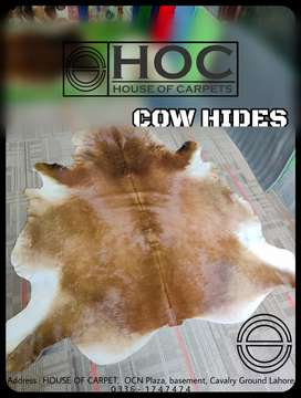 Cow hides, leather rugs