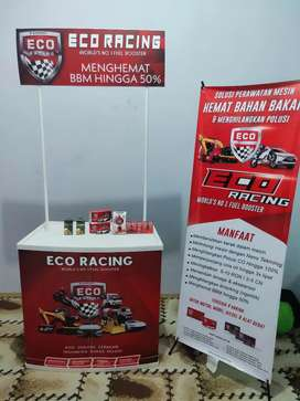 Stand booth banner eco racing