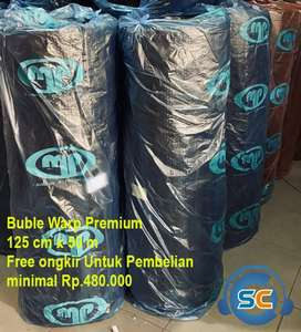 Bubble Warp ukuran 125cm x 50m Premium MP warna hitam