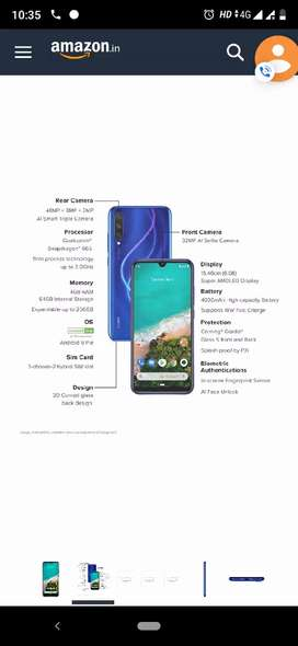 MI A 3 STOCK ANDROID SEAL PACK ANY COLOR