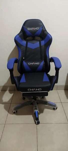 Kursi gaming kursi game selonjoran kaki bisa recline dan bantal getar