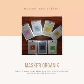 Masker organik murah alami dan aman untuk bumil dan busui dg 7 varian