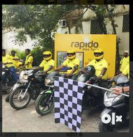 RAPIDO HIRING BIKERS FOR DELIVERY & BIKE TAXI