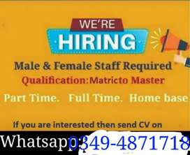 Urgently required staff for office work