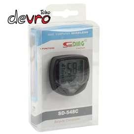 Speedometer sepeda-wireless dan waterproof-SD 548-BLACK