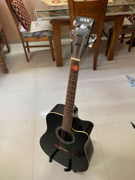Guitar - F cut Hobner (Jimm) - Acoustic-cum-Electric with Stand