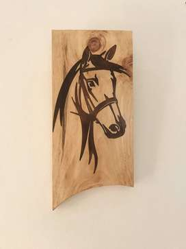Solid Wood Engraved epoxy Art wall mount plank