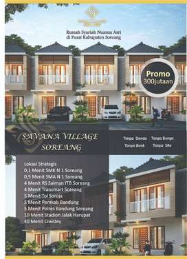 Rumah syariah 2 lantai harga 1 lantai savana village soreang