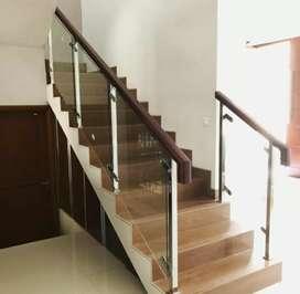 Railing tangga kaca dan balkon stainless #4993