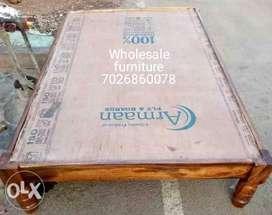 Wooden Deewan double cot 6 by 4 manufacture wholesale furniture dealer