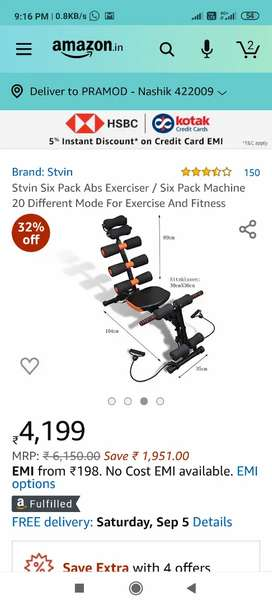 Six Pack Machine 20 Different Mode For Exercise And Fitness