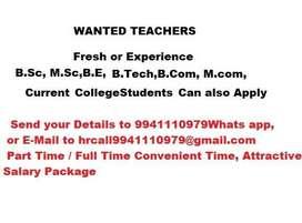 Wanted Fresh / Exp.Female Teachers