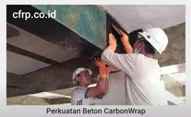 Aplikator perkuatan beton, jacketing, Eglass, carbon frp cfrp wrapping