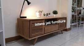 Meja tv bahan kayu jati bufet klassic retro