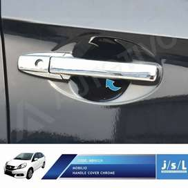 Cover Chrome Handle Honda Mobilio Lengkap 1Set Include Pasang