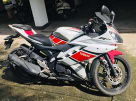 Yamaha R15 with only 6500 km driven.