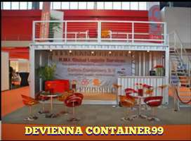 Semi container booth container penginapan container untuk coffee shop