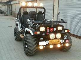 Black shine paint willys jeep