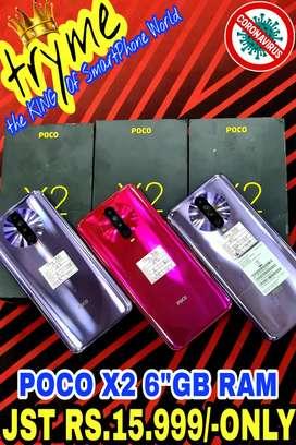 TRYME POCO X2 6Gb Ram Full Kit Box Fresh Condition