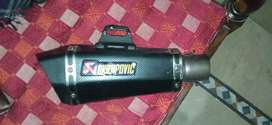 Akrapovic cut exhaust read full description