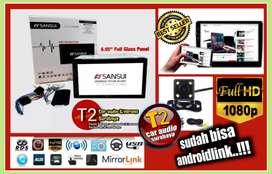 Heboh ada dvd 2din SANSUI JAPAN android link led 7inc+camera hd
