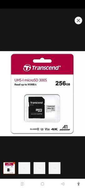 256gb memroy card.just one time used