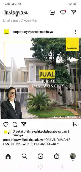 Rumah baru dijual daerah Pakuwon City dekat dengan ITS dan Mulyosari