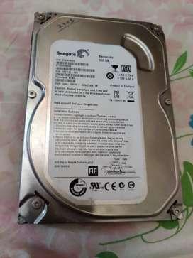 Seagate 500GB external computer hard disk