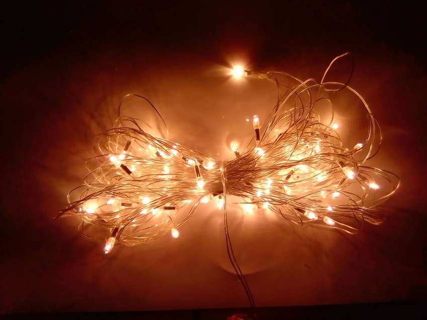 Yellow LED Fairy Light String 0