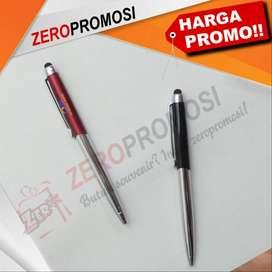 Souvenir Pen Besi Eksklusif dengan Stylus Kode 838 Polos