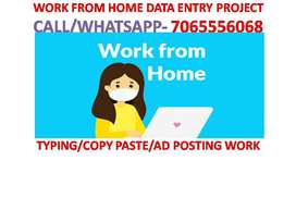 WEEKLY EARN HOME BASED WORK OF DATA ENTRY . PART TIME JOB TYPING WORK