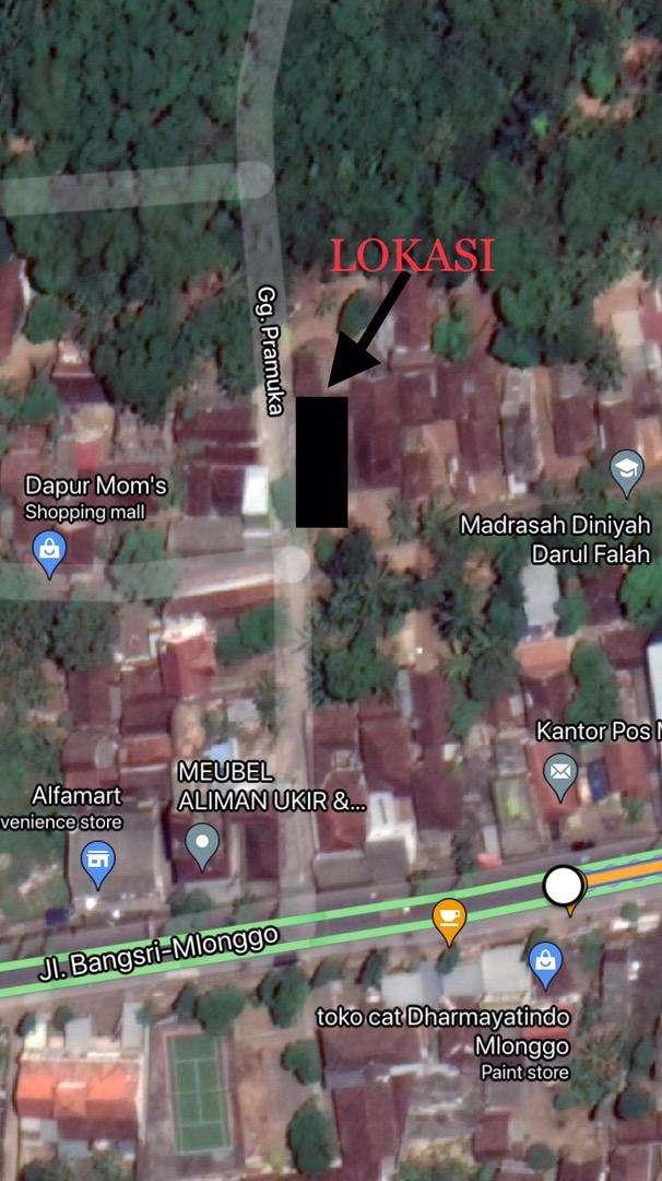 Dijual tanah dekat pasar mlonggo
