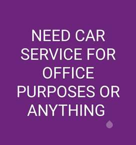 Car Service (rental) for office job or anything