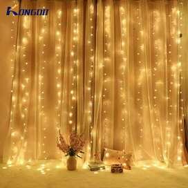 Lampu Gorden Dekorasi Wedding Light 3x3Meter 300 LED -