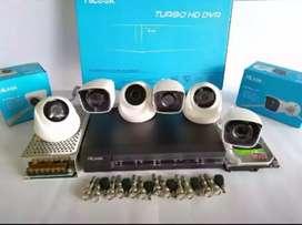 Paket CCTV HIKVISION 4 Kamera + Pemasangan + Connect Hp