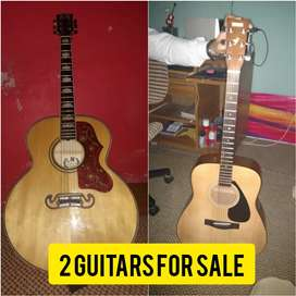 2 Guitars For Sale Accoustic Yamaha And Semi Accoustic Mbat Compnay