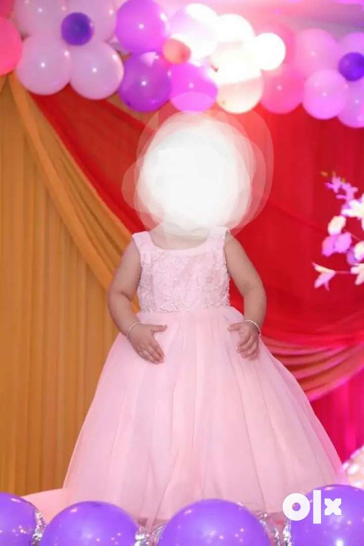 Designer baby girl gown for 2-3 years age 0