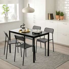 IKEA Brand New Finest Table and Chair Set (Black - Indoor/Outdoor )