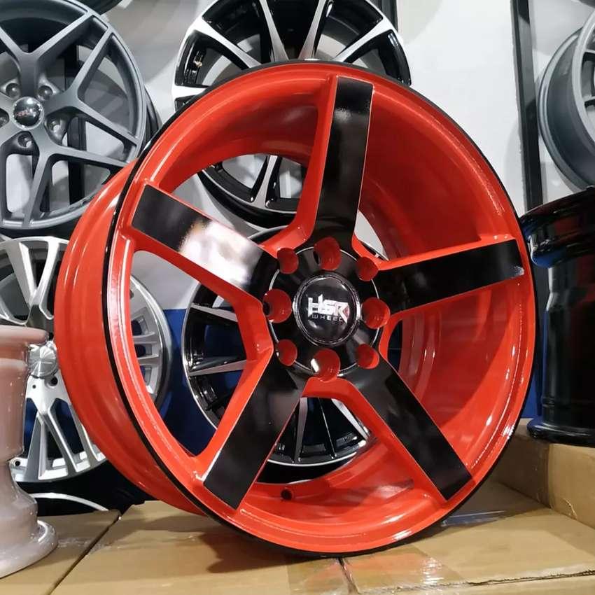 Velg HSR NE3 JD265 R15X7 H8X100-114.3 ET30 Red Black Face 0