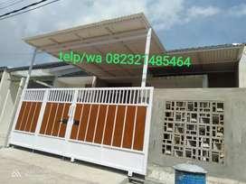 Canopy atap alderon tipis anti panas bahan SNI anti karat harga murah