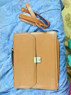 Brown pure leather bag