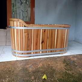 Bathup Kayu Jati  - Panjang 130 Cm - Bathup Unik