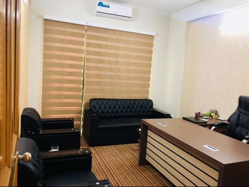 i-8 Markaz office 1100 sq ft with 2 executive rooms 1 hall for rent 0
