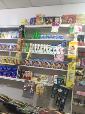 Shop counter and cosmetics for sale