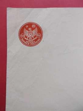 Kertas Segel Kuno Rp 500 Tahun 1985 Double