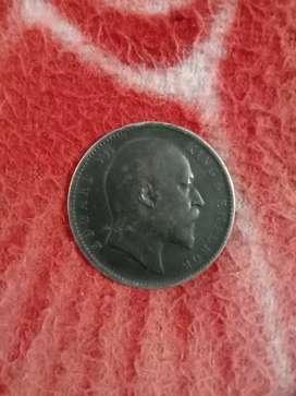 edward VII  one rupee coin 1904 built