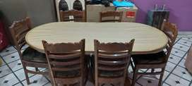 Dining with table and 6 chairs