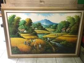 lukisan petani besar
