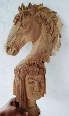Hourse wood  carving